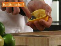 Wie Sie eine ausgepresste Orangenhälfte am besten säubern