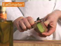 Wie Sie eine Kiwi ganz einfach schälen
