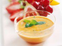 Cremige Dessertsauce mit Gudbrandsdalen