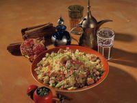 Indischer Reis mit Hähnchen und Granatapfel Rezept