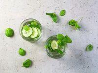 Infused water mit Gurke Rezept