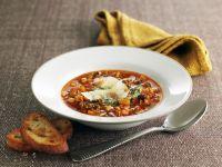 Italienische Gemüsesuppe mit Pesto Rezept