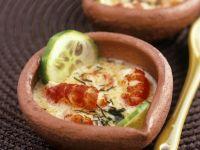 Italienischer Eintopf mit Flusskrebsen und Gurken (Cassolette) Rezept