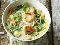 Jakobmuschelsuppe auf thailändische Art Rezept