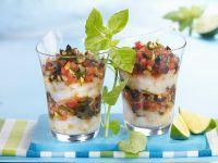 Jakobsmuschelfleisch mit Tomatentatar Rezept