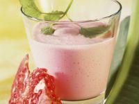 Joghurt-Birnen-Drink mit Granatapfel Rezept