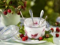 Joghurt mit Himbeeren Rezept
