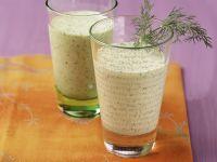 Joghurt-Shake auf indische Art mit Gurke und Kiwi Rezept