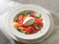 Joghurteis auf Grapefruitsalat Rezept