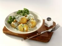Junge Kartoffeln mit Petersiliensoße