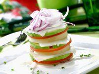 Kabeljau-Gemüse-Türmchen Rezept
