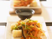 Kabeljau mit Gemüse süßsauer Rezept