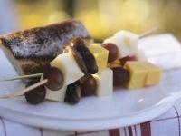 Käse-Frucht-Spieße Rezept