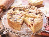 Käse-Kirsch-Kuchen mit Streuseln Rezept