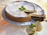 Käse-Mohn-Kuchen mit Birnen Rezept