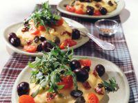 Käse-Polenta mit mediterranem Salat Rezept