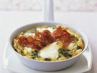 Käse-Spinat-Omelett mit Schinken
