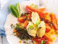 Käseklößchen mit Tomaten Rezept