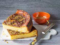 Käsekuchen mit Orangen und Pistazien Rezept