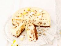 Käsekuchen mit Schokoröllchen Rezept