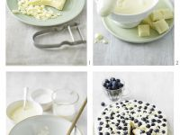 Käsekuchen mit weißer Schokolade und Blaubeeren Rezept