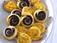 Käseschnecken mit Kräutern Rezept