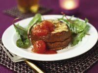 Käsesoufflee mit Tomaten