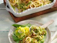 Käsespätzle mit Bärlauch und Zwiebeln Rezept