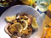 Kalbfleisch-Bratenscheiben mit Thunfischcreme Rezept