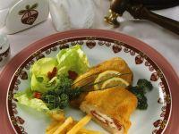Kalbs-Cordon Bleu mit Tomate und Schafskäse Rezept