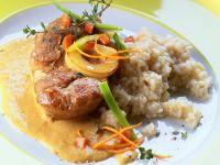 Kalbsbeinscheiben in Orangen-Curry-Sauce Rezept