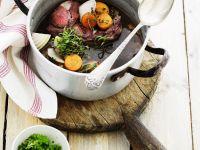 Kalbsbraten mit Rotweinsauce Rezept