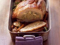 Kalbsbrustbraten mit Champignon-Kartoffel-Füllung Rezept