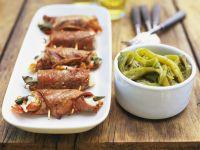 Kalbsfleischröllchen mit Mozzarellafüllung Rezept
