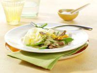 Kalbsgeschnetzeltes mit Orangen-Senf-Sauce Rezept