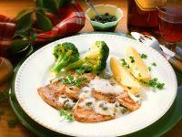 Kalbsschnitzel mit Gemüse Rezept