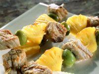 Kalbsspieße mit Ananas vom Grill Rezept