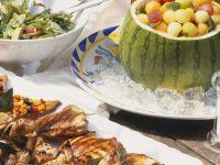Kalte Ente mit Minze und Aprikosen (Bowle) Rezept