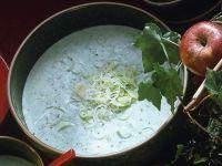 Kalte Lauchcremesuppe Rezept