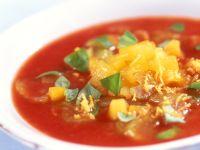 Kalte Tomatensuppe mit Aprikosen Rezept