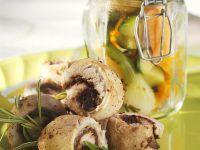 Kaninchenrouladen und mariniertes Gemüse Rezept