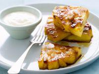 Karamellisierte Ananas und Sahne Rezept