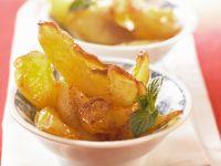 Karamellisierte Apfelspalten Rezept