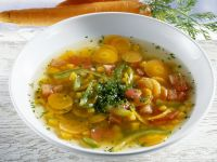Karotten-Kürbis-Suppe mit Paprika Rezept