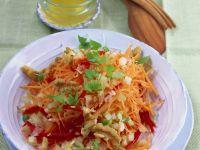 Karottenrohkost mit Walnüssen Rezept