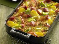 Kartoffel-Apfel-Auflauf mit Kasseler Rezept