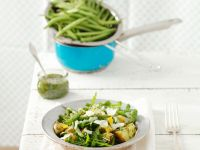 Kartoffel-Bohnensalat mit Rucola
