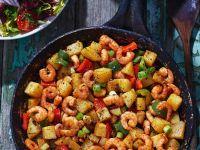 Kartoffel-Garnelen-Pfanne mit Paprika Rezept