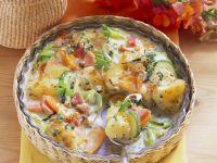 Kartoffel-Gemüse-Gratin mit Schinken Rezept