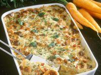 Kartoffel-Käseauflauf mit Karotten Rezept